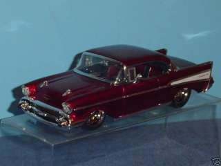 1957 CHEVY BEL AIR DUB CITY CUSTOM 124 CANDY RED