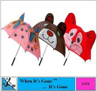 NEW GIRLS/BOYS/CHILD/KIDS ANIMAL NOVELTY EARS UMBRELLA