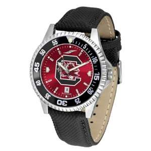 South Carolina Gamecocks Mens Leather Wristwatch Sports
