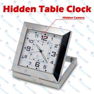 Digital USB TF Card HD Spy Video Hidden Camera Table Clock Recorder