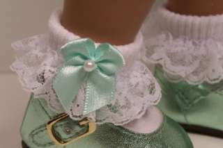 WHITE Lace Sock Doll Clothes For Sasha♥ Bows ??