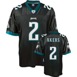 David Akers Black Throwback Football Jersey