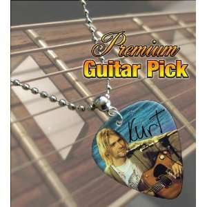 Kurt Cobain Premium Guitar Pick Necklace Musical