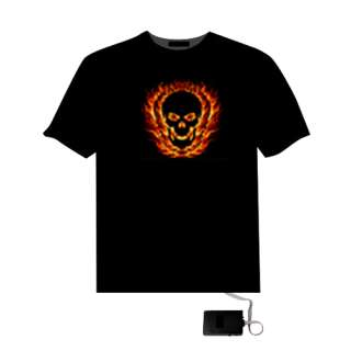 Sound Disco Music Activated Equalizer LED T Shirt 07