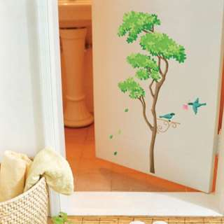 Tree & Bird Wall Decor STICKER Removable Adhesive Decal