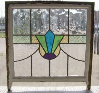 Antique Stained Glass Windows Swag Art Deco Bursts with Purple