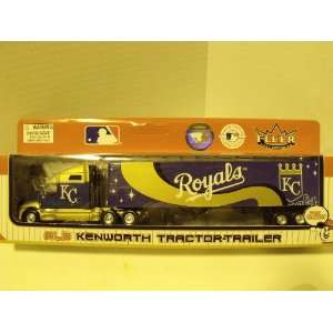 MLB Kansas City Royals 180 Scale Die cast Kentworth Tractor Trailer
