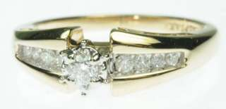 14K SOLID YELLOW GOLD DIAMOND ENGAGEMENT ESTATE RING J214139