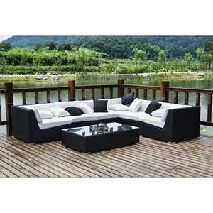 Dreamscape Outdoor Rattan 7 Piece Set Patio, Lawn