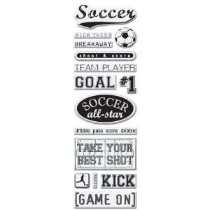 Embellishments/Mini Epoxy Stickers, Soccer Arts, Crafts & Sewing