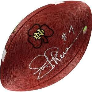 Joe Theismann Autographed Game Model Football Sports