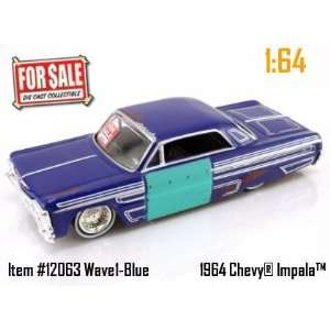 Dub City For Sale Blue 1964 Chevy Impala 164 Scale Die Cast Car Toys