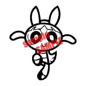 POWER PUFF GIRL LANDING WHITE VINYL DECAL STICKER