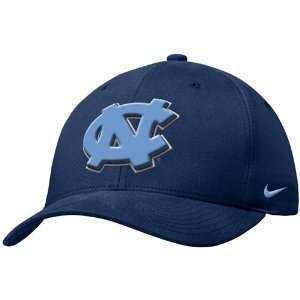 Nike North Carolina Tar Heels (UNC) Navy Swoosh Flex Fit