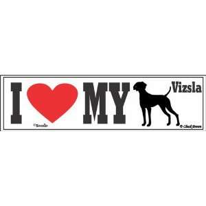 I Love My Vizsla Bumper Sticker