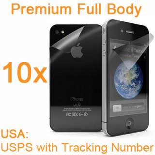 10X iPhone 4G Premium Full Body Anti Glare Fingerprint Screen