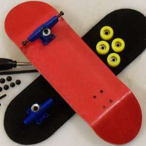 Peoples Republic Complete Wooden Fingerboard   Red Toys & Games