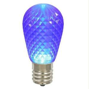 Pack of 12 LED 11S14 Blue Replacement Christmas Light Bulbs   E26 Base