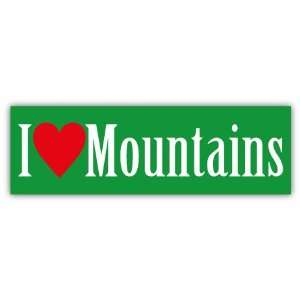 Love Mountains Car Bumper Sticker Decal 6 X 2
