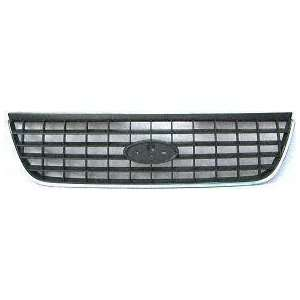 02 FORD EXPLORER GRILLE SUV, Chrome, Dark Gray, Platinum XLS and XLT