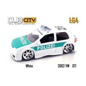 Jada Dub City White 2002 VW GTI Police Polizei 164 Scale