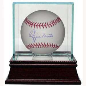 Ozzie Smith Signed Ball   Official Major League w Glass Case Tri Star