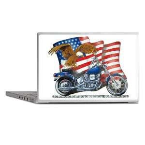 Laptop Notebook 13 Skin Cover Motorcycle Eagle And US