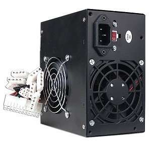 480W 20+4 pin ATX Dual Fan PSU with SATA (Black
