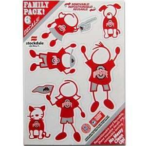 Ohio State Buckeyes College Family Decals 6 Pack
