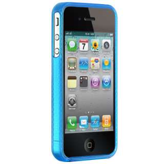 Blue Crystal Skin Cover TPU Sleeve Gel Case For Apple Iphone 4 4G 4Gs