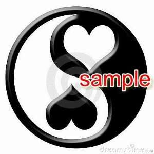 YIN YANG HEARTS WHITE VINYL DECAL STICKER