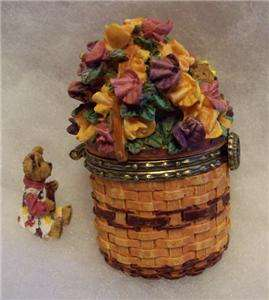 BOYDS LONGABERGER TREASURE BOX SWEET PEA BASKET w/POLLY