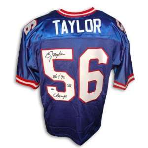 Lawrence Taylor New York Giants Autographed Blue Throwback Jersey with