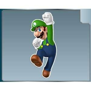 LUIGI from Super Mario Bros. vinyl decal sticker #1