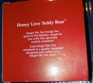 Honey Love Teddy Bear   1990 Ornament   Forget Me Not