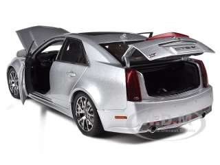 18 scale diecast car model of 2009 Cadillac CTS V Silver by Kyosho