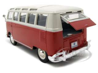 VOLKSWAGEN VAN SAMBA RED DIECAST CAR MODEL 125