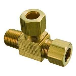 MPT,2000psi Brass Comp Fitting,Male Run Tee