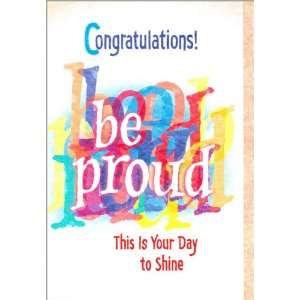 Blue Mountain Arts Congratulations Greeting Card Be Proud