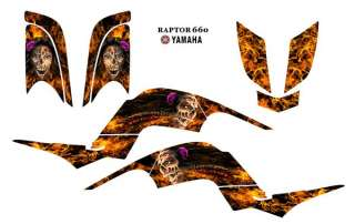 YAMAHA Raptor 660 Graphic kit Flaming Zombie Girl 9700N