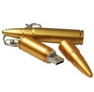 Metal bullets 8GB 16GB 32GB USB Memory Stick Flash Pen Drive
