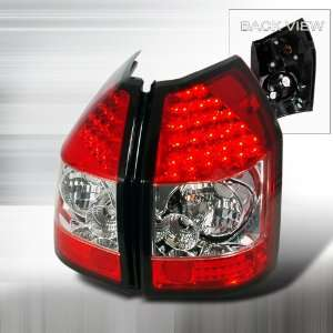 05 06 Dodge Magnum LED Tail Lights   Red Clear (Pair) Automotive