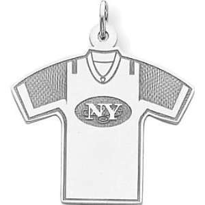 Sterling Silver NFL New York Jets Football Jersey Charm Jewelry