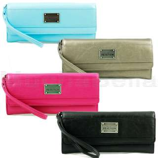 COLE REACTION WOMENS CLUTCH WALLET w STRAP LONG ISLAND WRISTLET