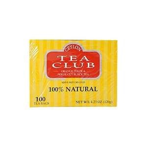 Pekoe & Pekoe Cut Black Tea   100% Natural, 100 bags,(Ceylon Tea Club