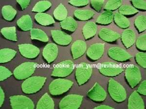 100 EDIBLE LEAVES cake topper decoration SUGAR icing