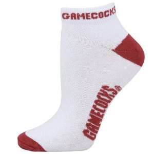 South Carolina Gamecocks White Ladies 9 11 Ankle Socks