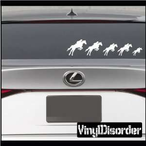 Family Decal Set Horses 01 Stick People Car or Wall Vinyl
