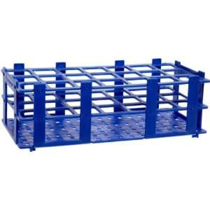 BrandTech 4340041 30mm 21 Tubes Blue Polypropylene Test Tube Rack, 3 x