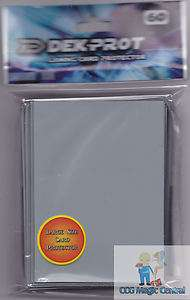 60 DEK PROT PLATNIUM SILVER CARD SLEEVES DECK PROTECTORS FOR WoW
